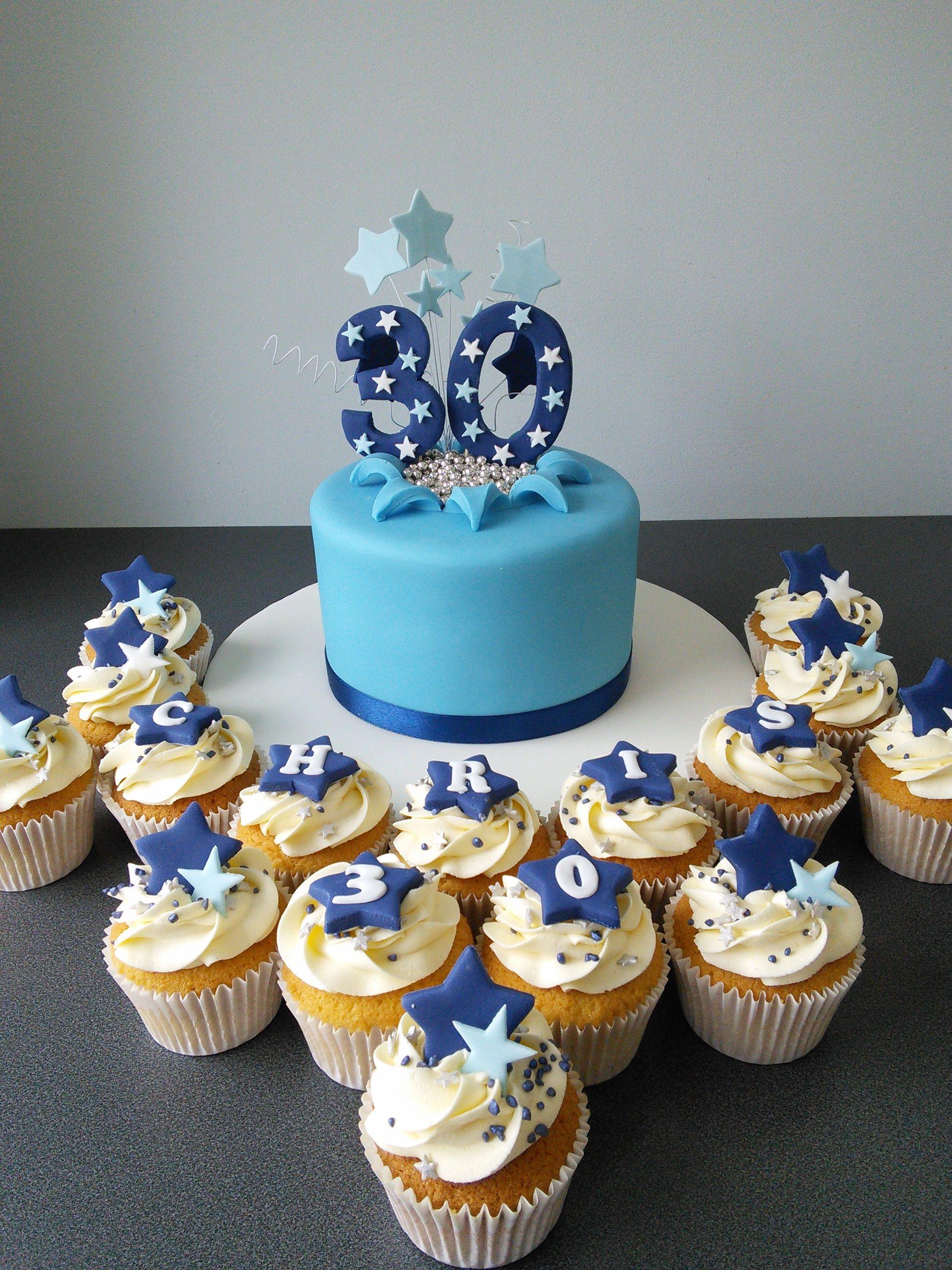 Blue stars 30th birthday cake 30 birthday cake birthday