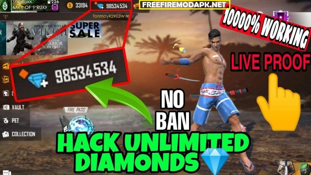 Free Fire Diamonds Hack Generate Unlimited Diamonds Free