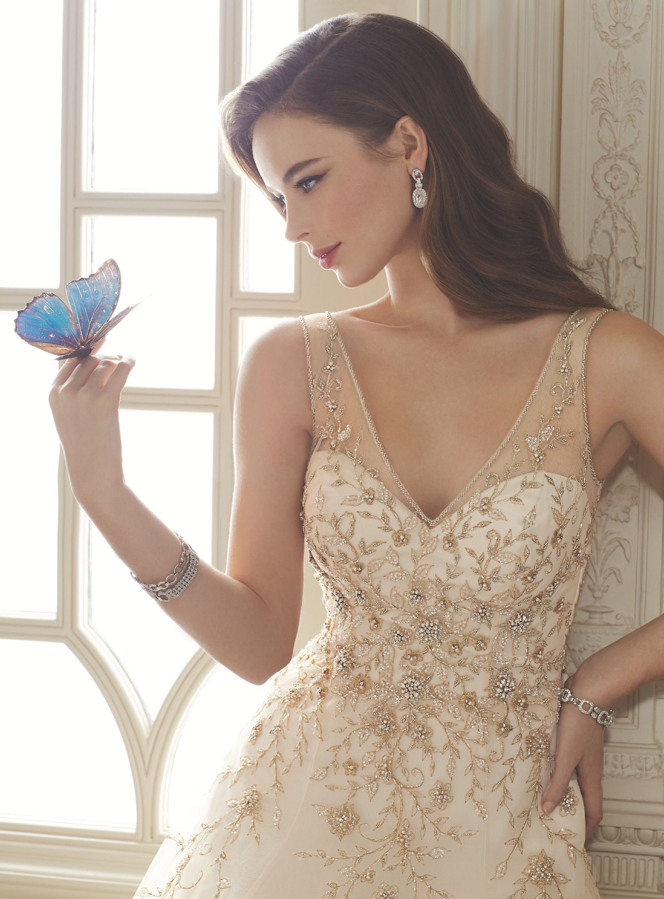 Iv regal and lovely this tulle aline ballgown style wedding