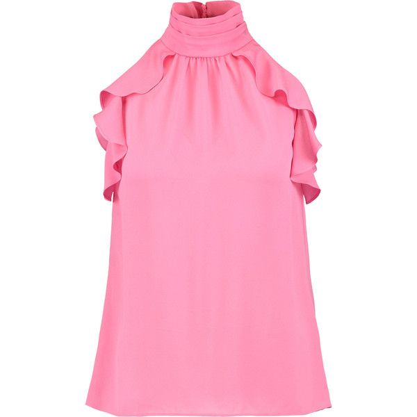 d5c0bfe233f28 Rachel Zoe Nia ruffled silk top (8.785 RUB) ❤ liked on Polyvore featuring  tops
