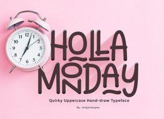 Holla Monday Display Font - Befonts.com
