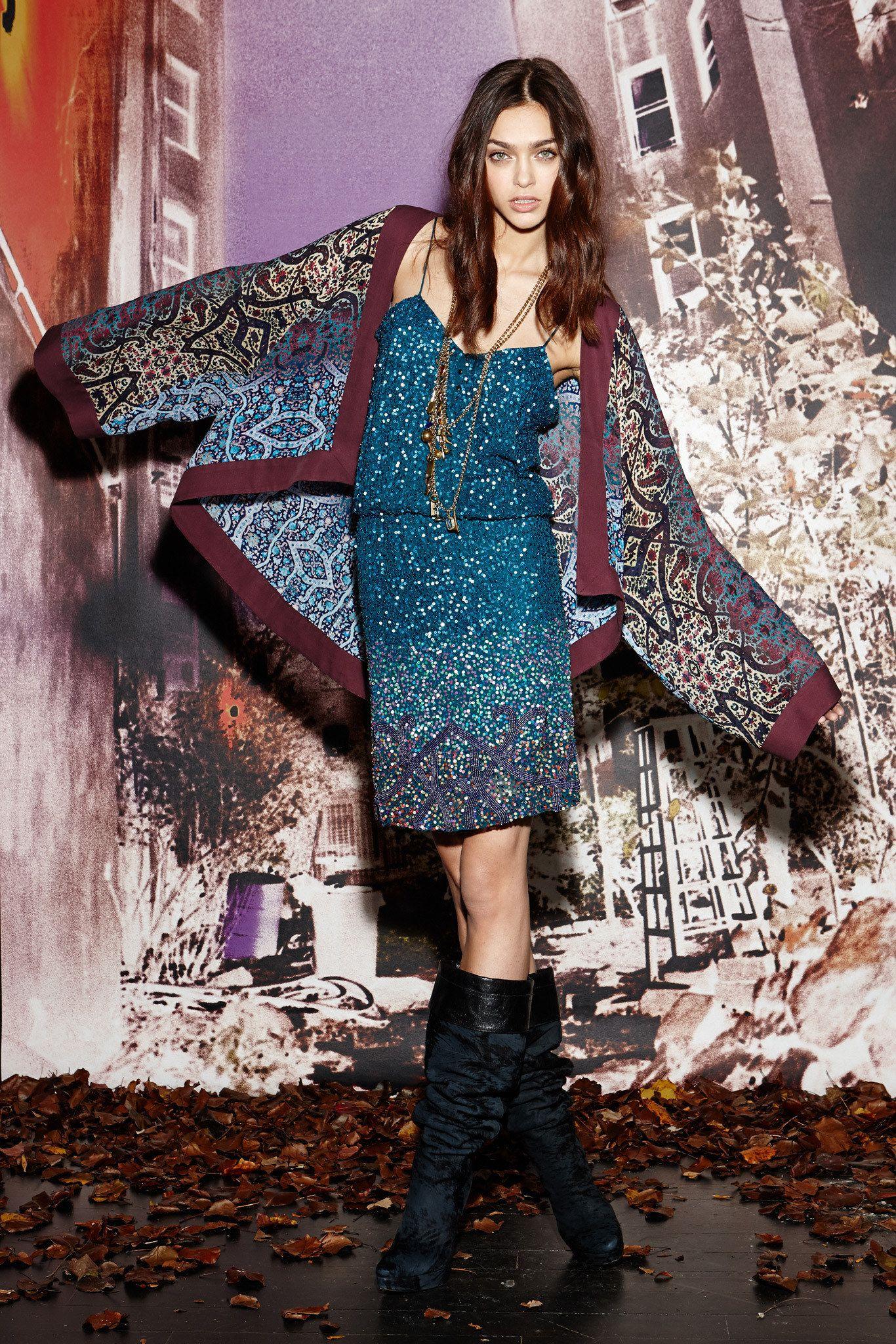 Nicole Miller Pre-Fall 2014 Fashion Show - Zhenya Katava