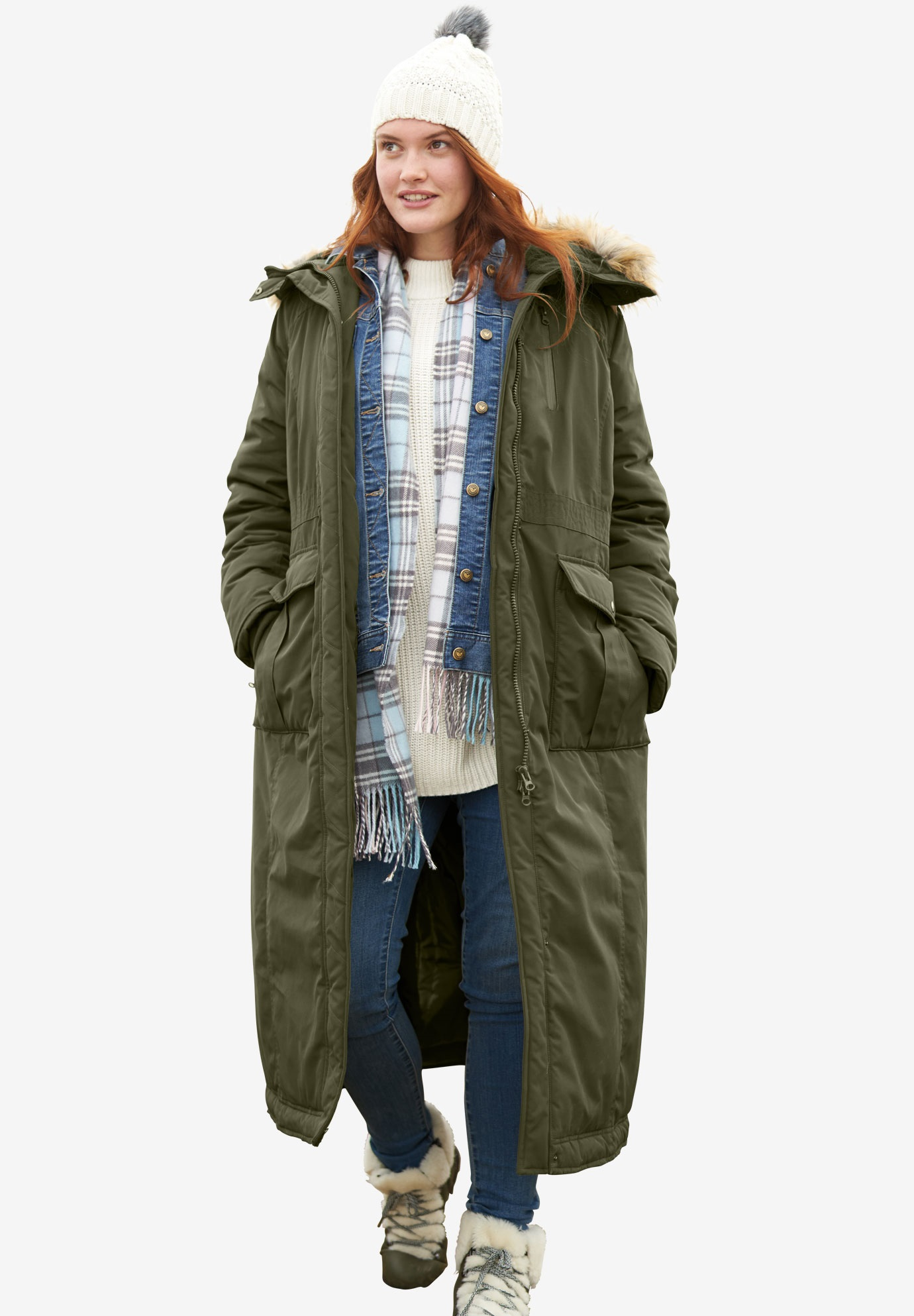 Long Parka Womens