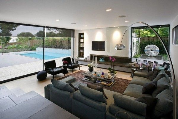 mueble salon MODERNO con chimenea  Buscar con Google  MIMENALDE