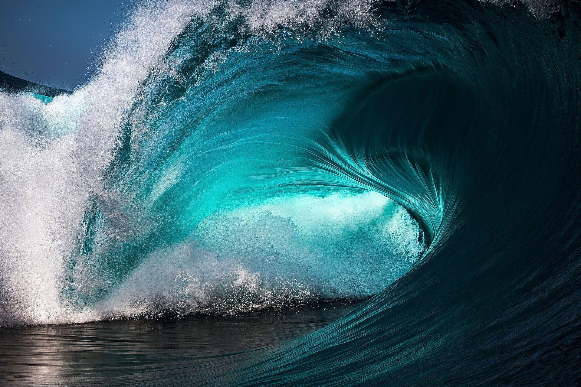 Ocean Wave Sea Waves Blue Water Turquoise Splashes Cyan 1080p Wallpaper Hdwallpaper Desktop Waves Ocean Waves Ocean Wallpaper