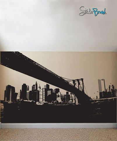 Vinyl wall decal sticker nyc brooklyn bridge new york 570 150 on sale