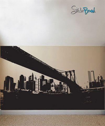 Vinyl Wall Decal Sticker NYC Brooklyn Bridge New York - Custom vinyl decals brooklyn