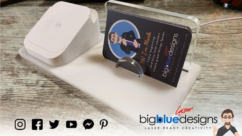 Business Card Square Card Reader Holder Square Dock Holder Etsy Square Card Simple Business Cards Business Card Holders