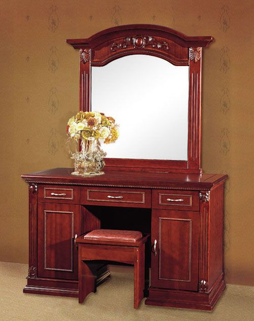 Furniture   Reddish Brown Wooden Dressing Table Chair Mirror Frame Brown  Wall White Yellow Flowers Glass. Furniture   Reddish Brown Wooden Dressing Table Chair Mirror Frame