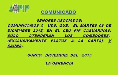 PROMOCION DE OFICIALES PIP: COMUNICADO AOPIP
