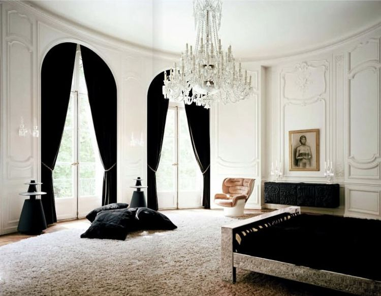 black and white paris bedroom home design ideas and pictures