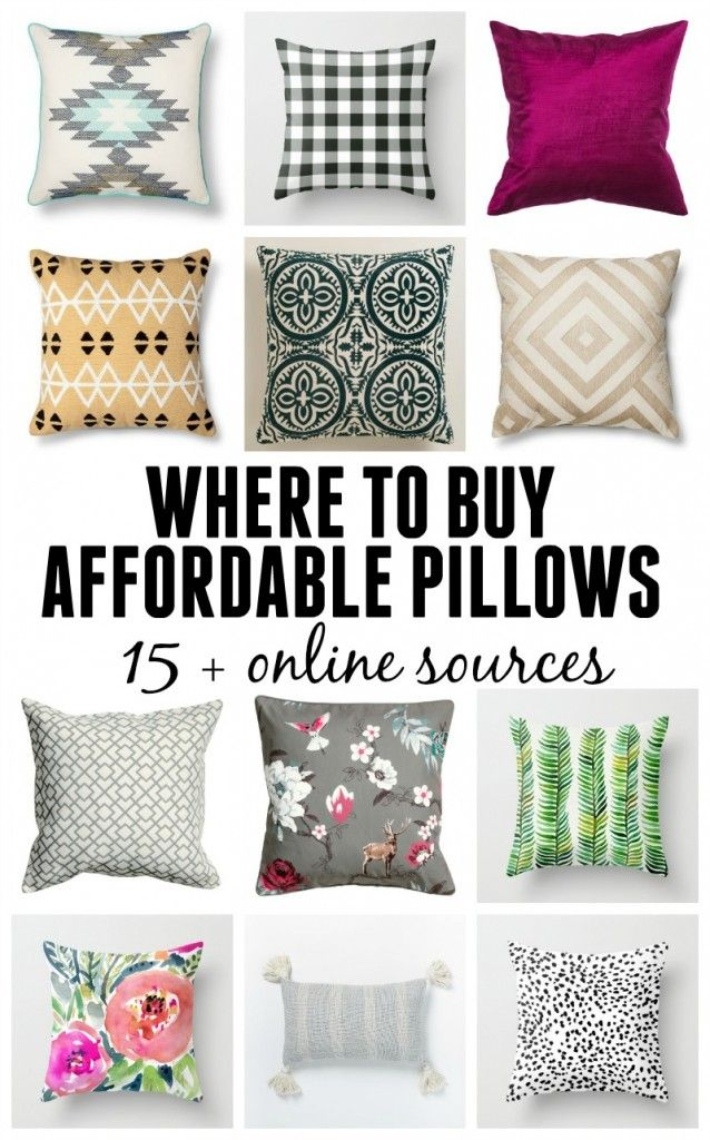 Cheap Decorative Pillows Under $10 Delectable Where To Buy Affordable Pillows  15 Online Resources  Budgeting Inspiration Design