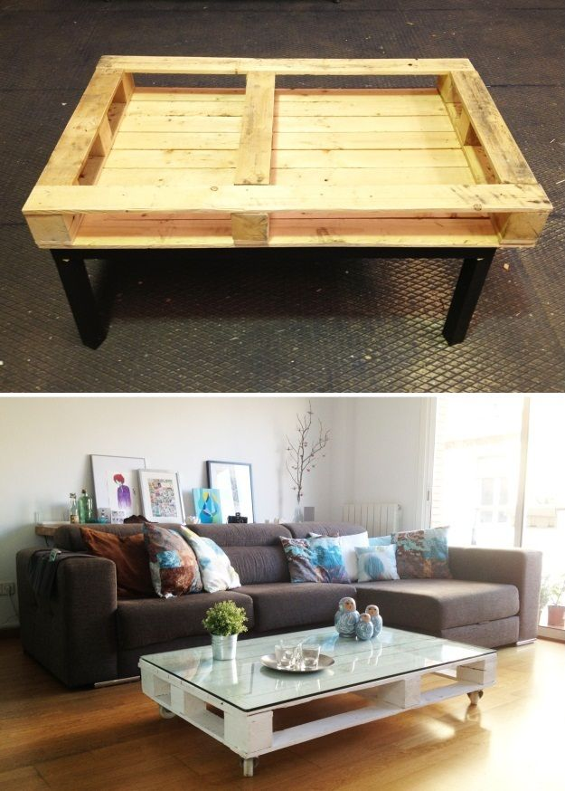 Need a cheap and easy to make coffee table? Why not make one from repurposed pallets. Learn how by viewing the full album of the project at http://theownerbuildernetwork.co/fyo1 What other projects have you done with pallets?