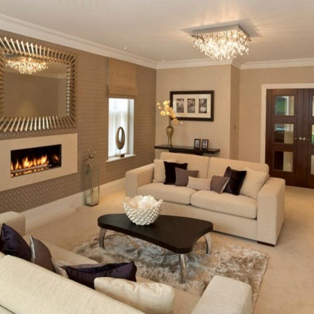Living Room Wall Color With Tan Furniture With Completly Brown