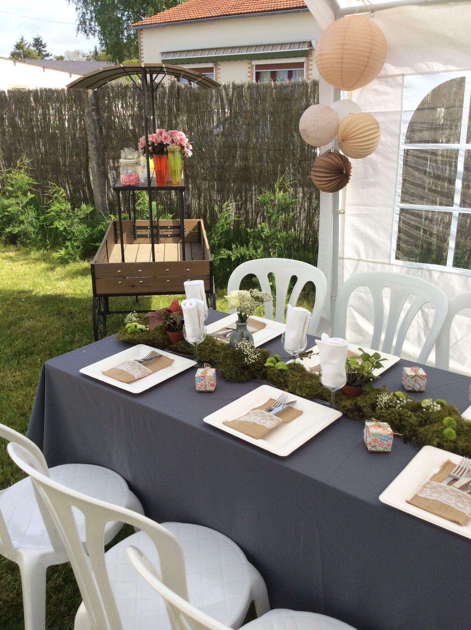 D coration printani re centre de table avec de la mousse - Mousse decoration ...