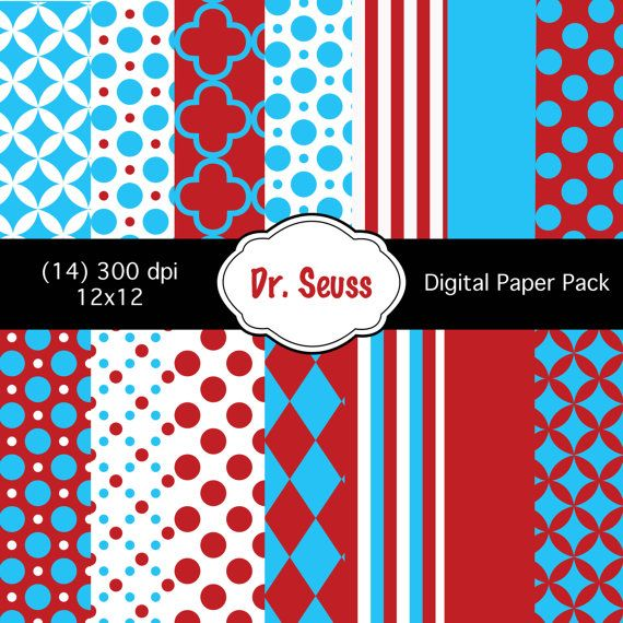 perfect for the red/aqua color scheme!   Digital paper ...