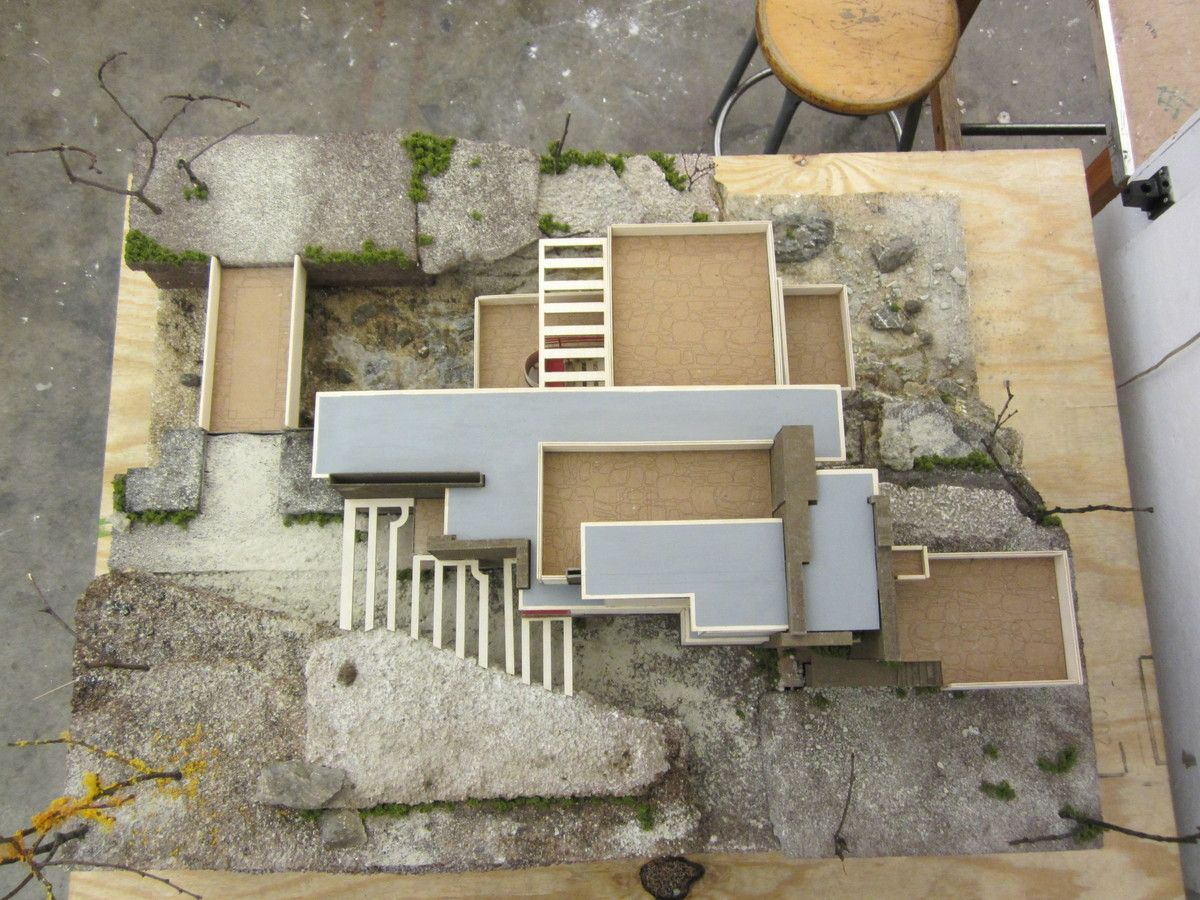 how to make falling water model