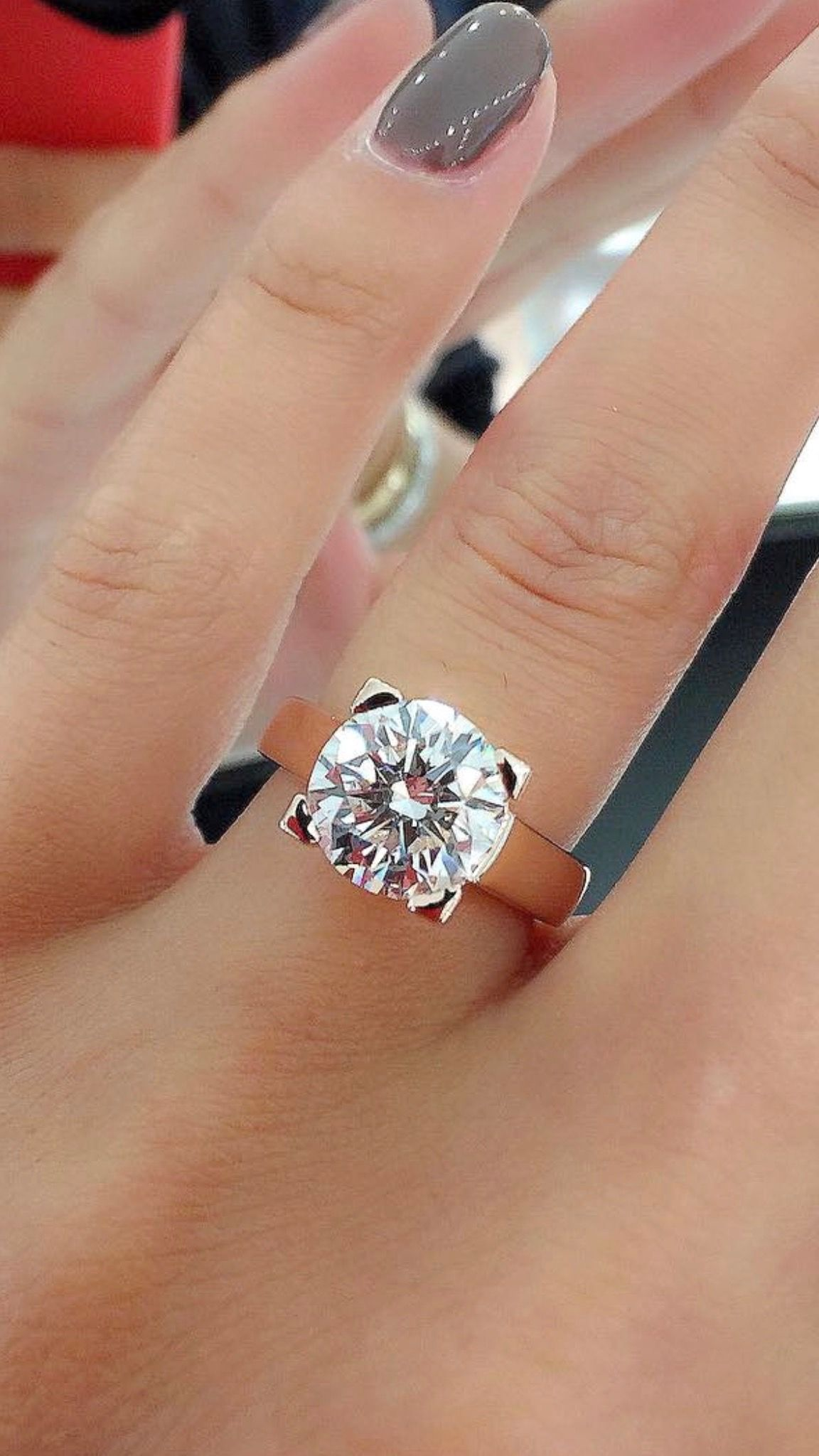 flawless simulant fashion ruxwona wedding pave carat rings of petite akgxqua gold white low engagement preset pictures diamond carot in round ring promise cut solitaire profile