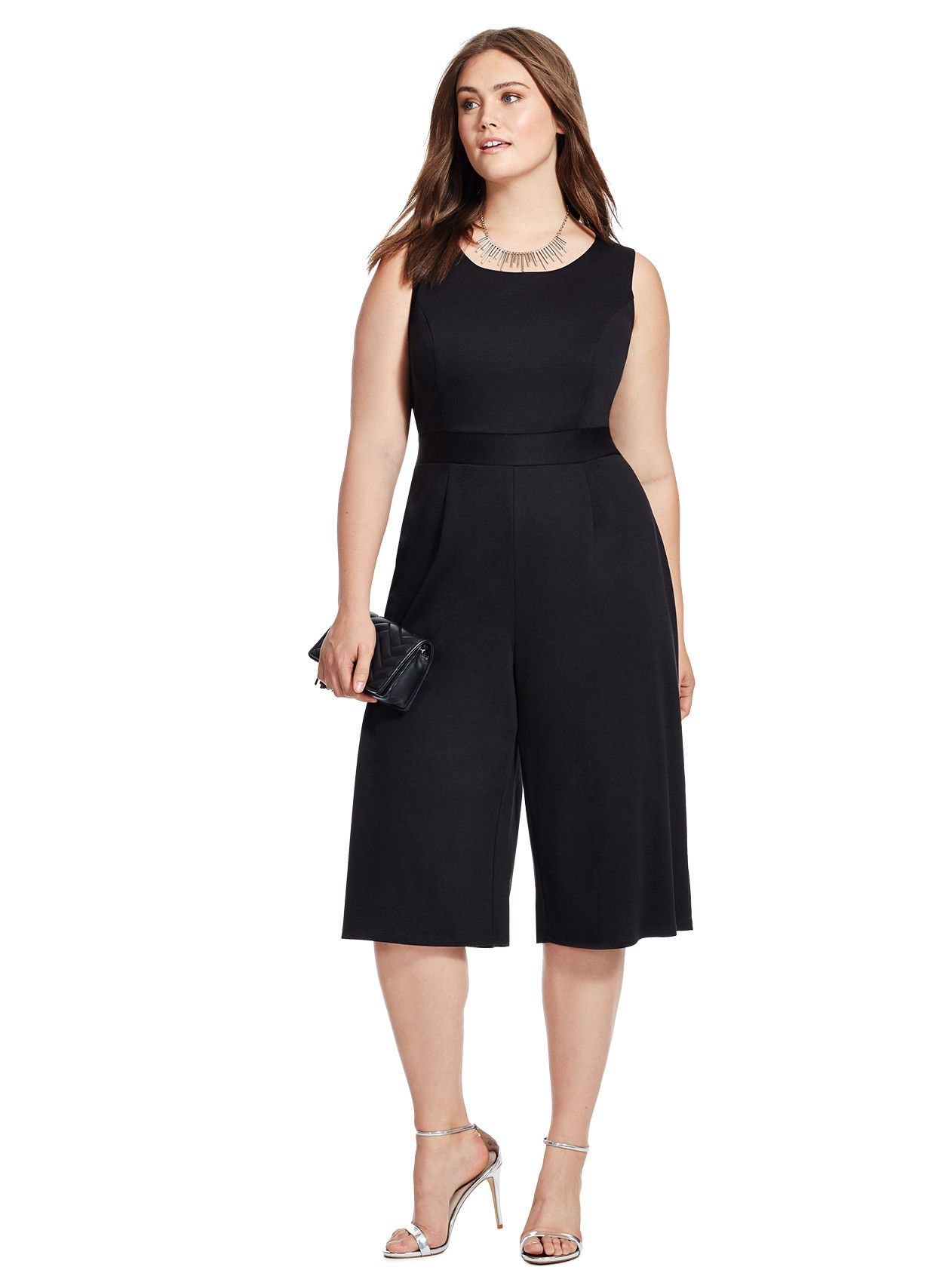Erin Culotte Jumpsuit by MBN Available in sizes XL and 0X-5X