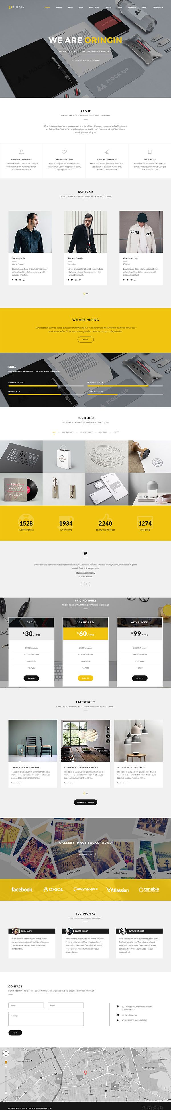 15 New Responsive Html5 Css3 Website Templates Drupal Templates Web Design Inspiration