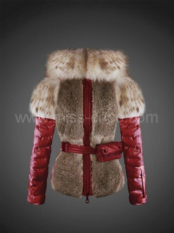 03d8efb963de  359 Huge White Fox Collar and Shoulders Red Moncler Women Fur ...
