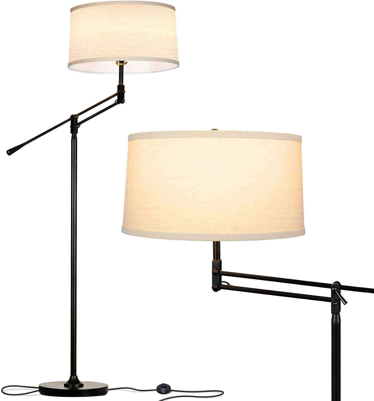 Brightech ava industrial floor lamp standing lamp for