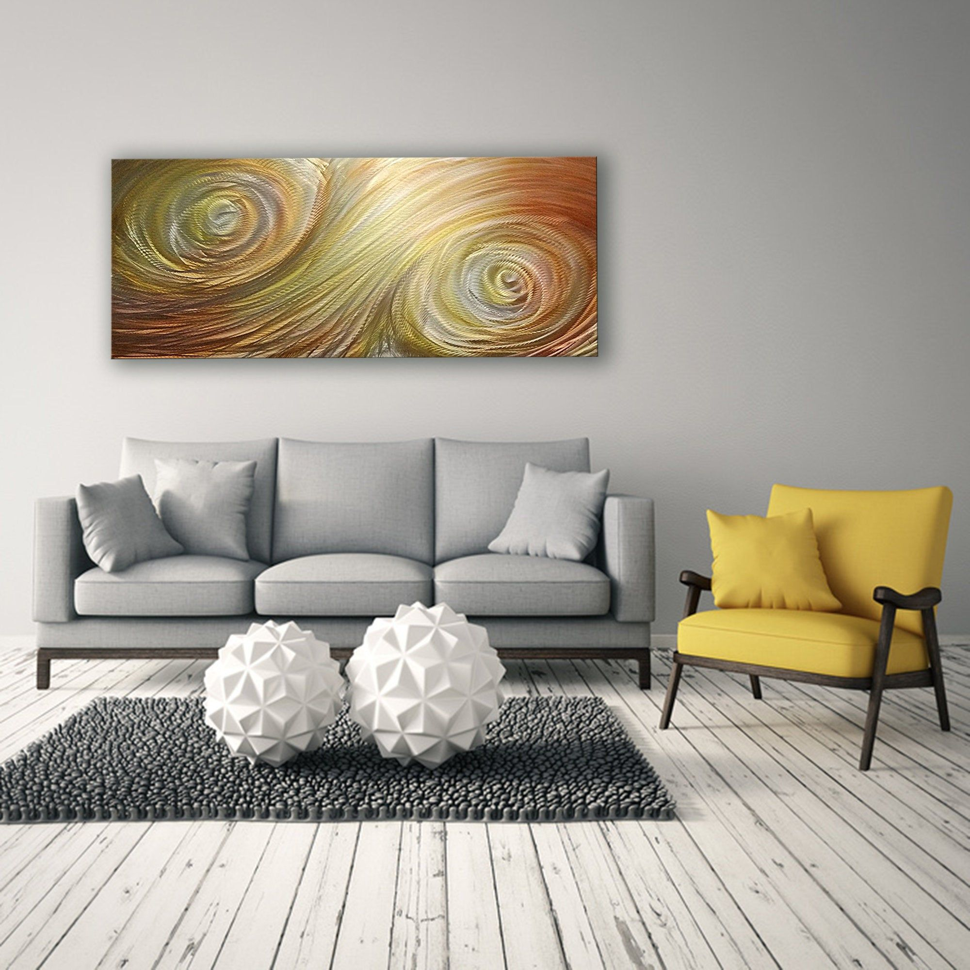 Orange Yellow Metal Wall Art Contemporary Wall Sculpture Etsy In 2020 Metal Tree Wall Art Contemporary Wall Sculptures Abstract Metal Wall Art #wall #sculptures #for #living #room