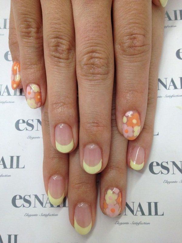 65 Japanese Nail Art Designs | Flower nail art, Flower nails and ...