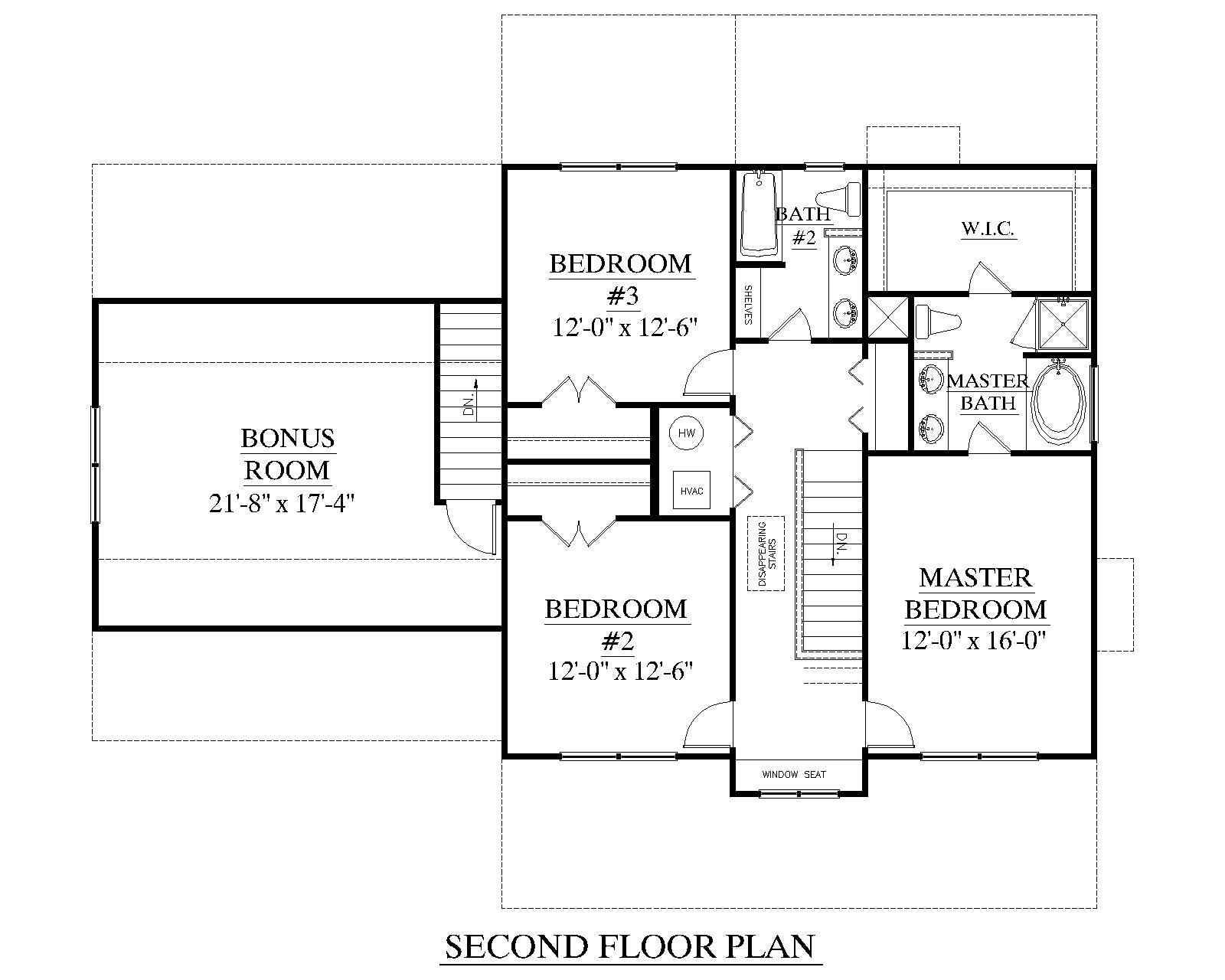 Houseplans with 2 master bedrooms  House Plan A The COLEMAN A nd floor  TwoStory House Plans