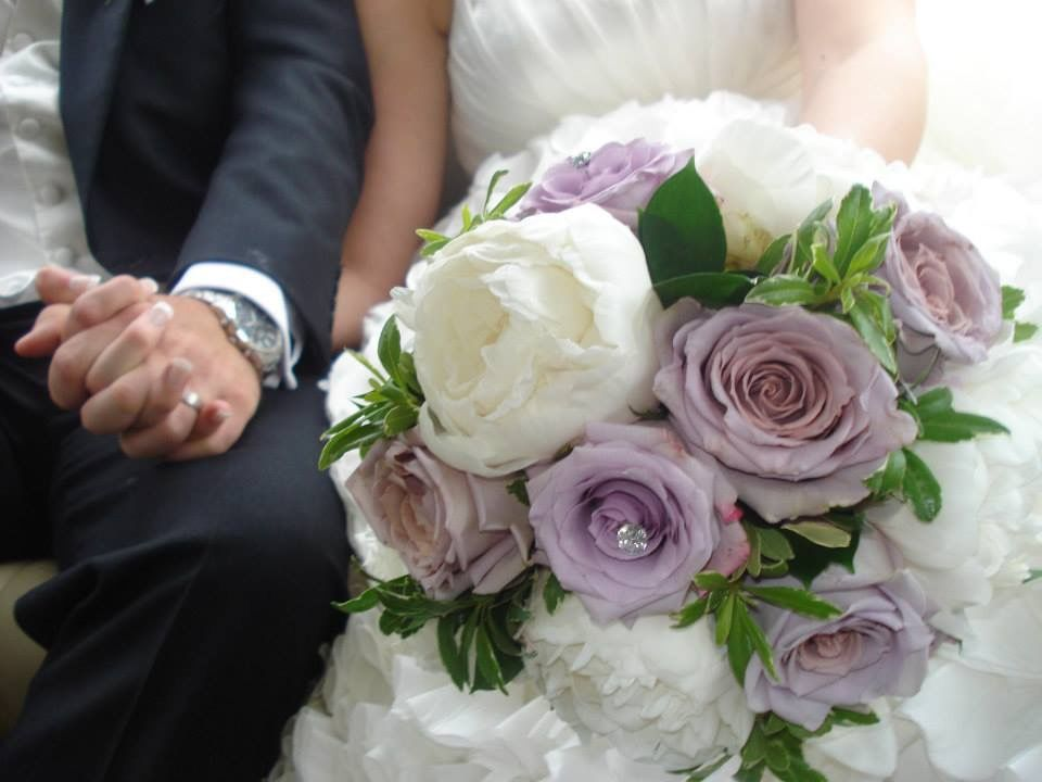 Lilac Rose And White Peony Bride Bouquet Surrey Wedding Flowers By Boutique Blooms Floral Design