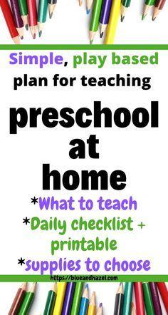 Photo of How To Homeschool Preschool: Getting Started