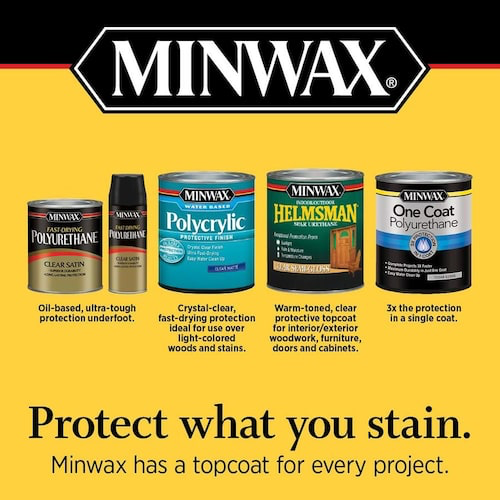 Minwax Polycrylic 8 Fl Oz Satin Water Based Polyurethane At Lowes Com Minwax Water Based Wood Stain Polyurethane