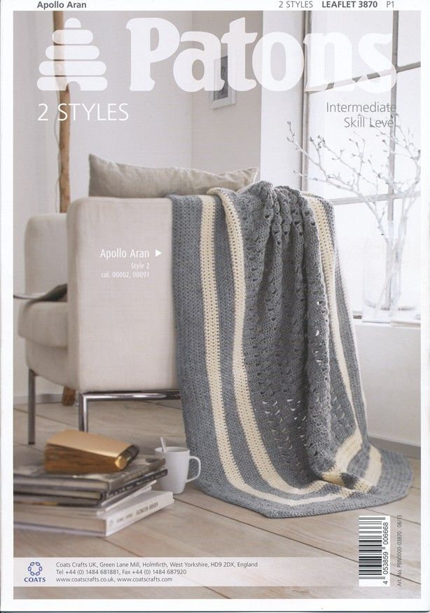 Crochet Blankets in Patons Apollo Aran (3870) | Home Accessories ...