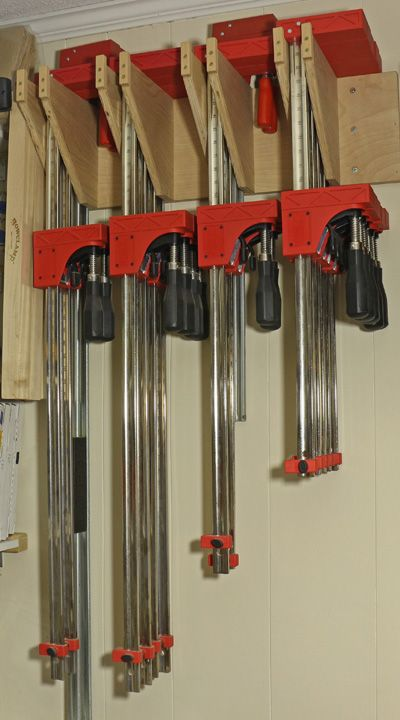 Homemade Clamps Holder Woodworking Pinterest Woodworking
