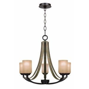 Without The Band Croft 5 Light Olive Stone Chandelier 27205 Dining Room
