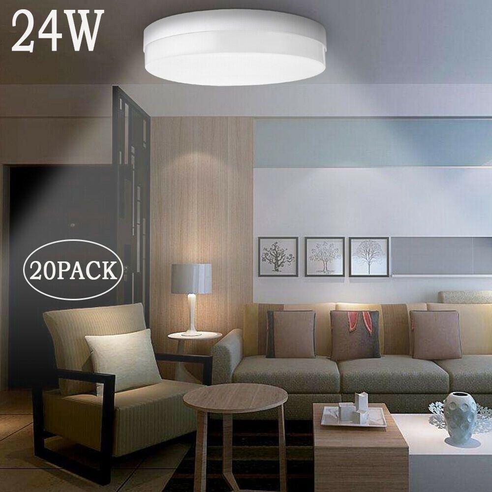 20x 24w Round Flush Mount Led Ceiling Down Light Cool White