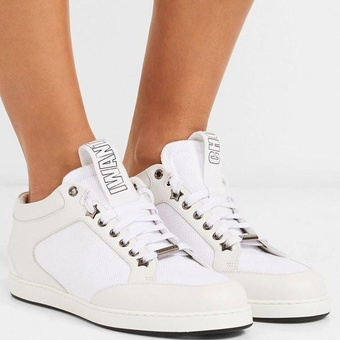 855208c74110 Jimmy Choo masters tongue-in-cheek with these  Miami  sneakers – their