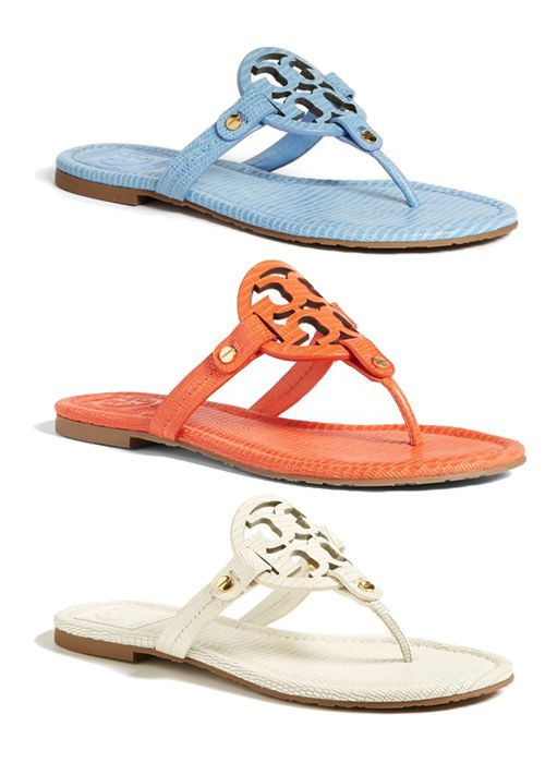 Carolina Blue 'Miller' Tory Burch Sandals.
