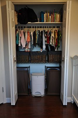 Sharing Closet Space. Adding Baby Items To The Closet.