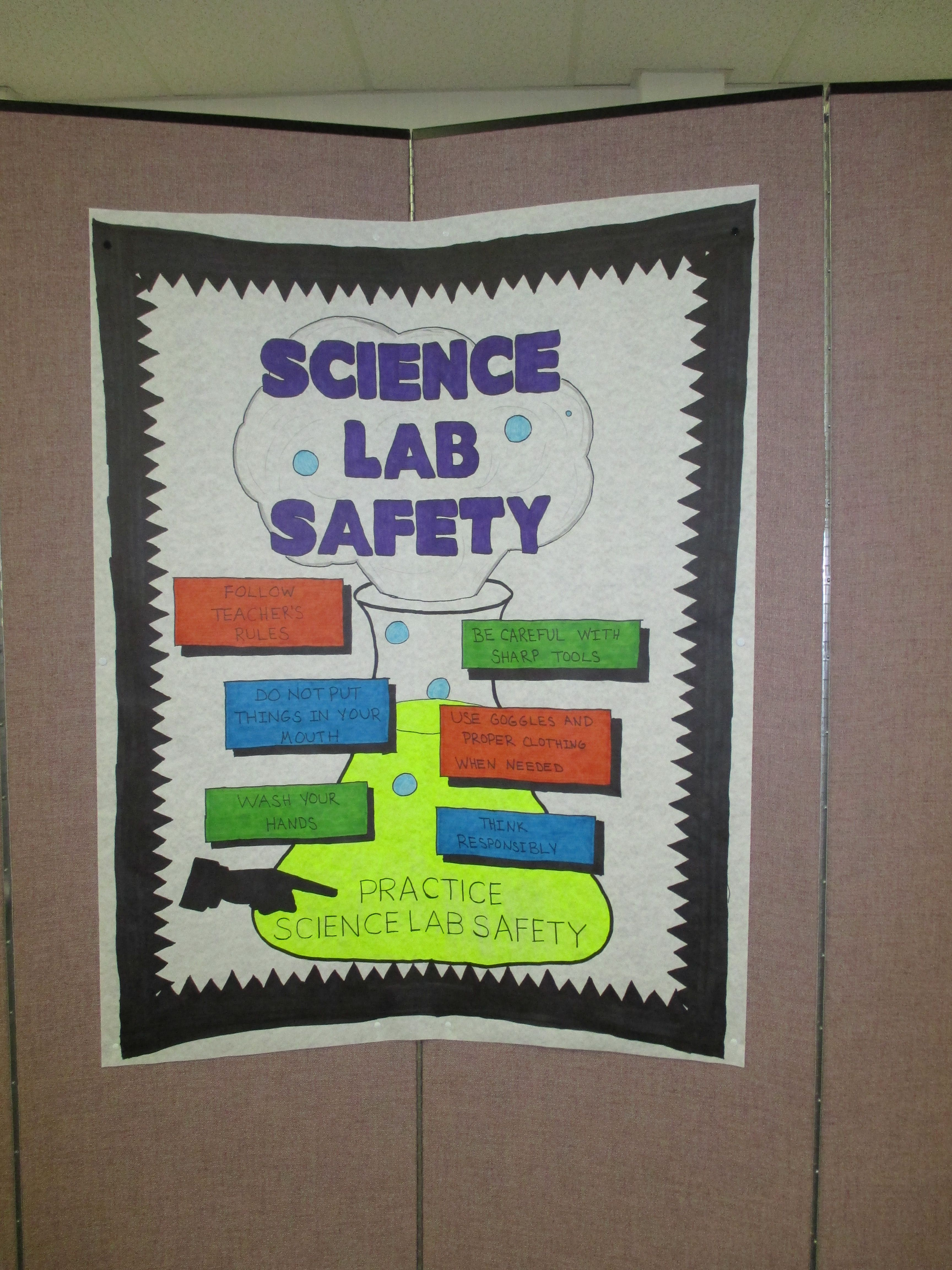 Crafts in the Lab Science Lab Safety poster Lab safety