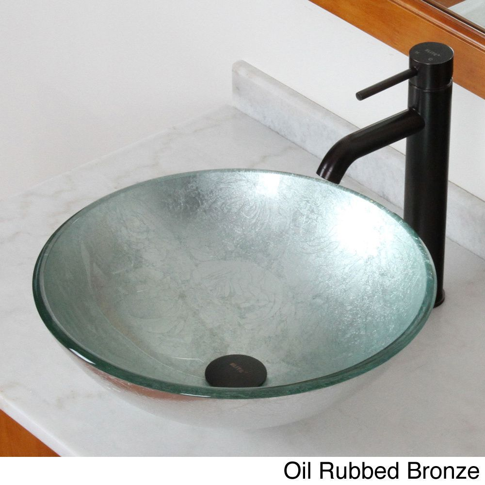 A Brand New Design from Europe This Elite Glass Bathroom Vessel