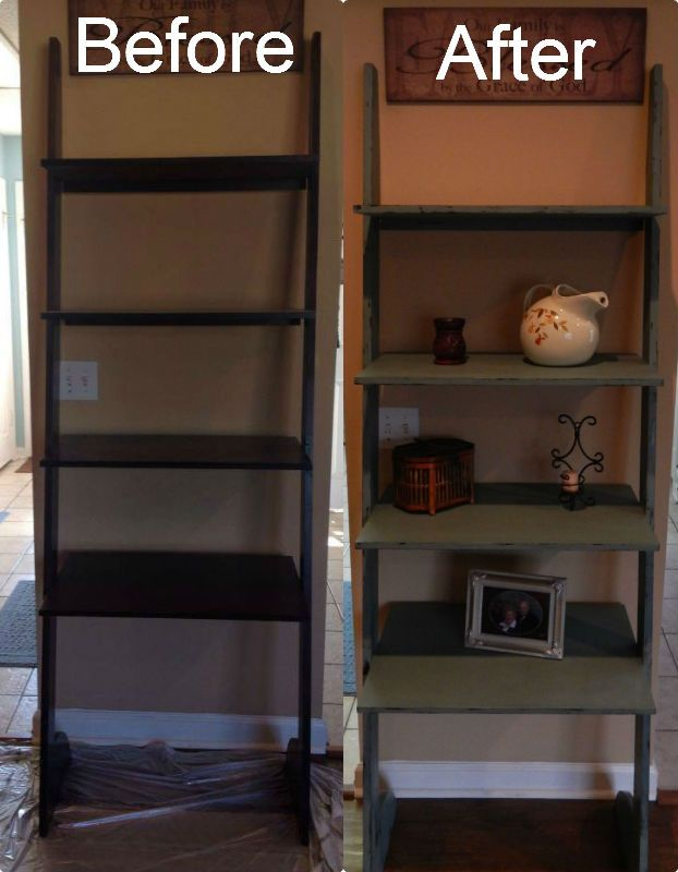 We Gave This Ladder Shelf A Makeover Diy Chalk Painted It In The Studio 29 11 Custom Color Mix Spruce Furniture Inspiration Painted Furniture Diy Chalk Paint