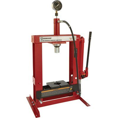 Strongway Benchtop 10 Ton Hydraulic Shop Press With Gauge Hydraulic Shop Press Shop Press Hydraulic Press Machine