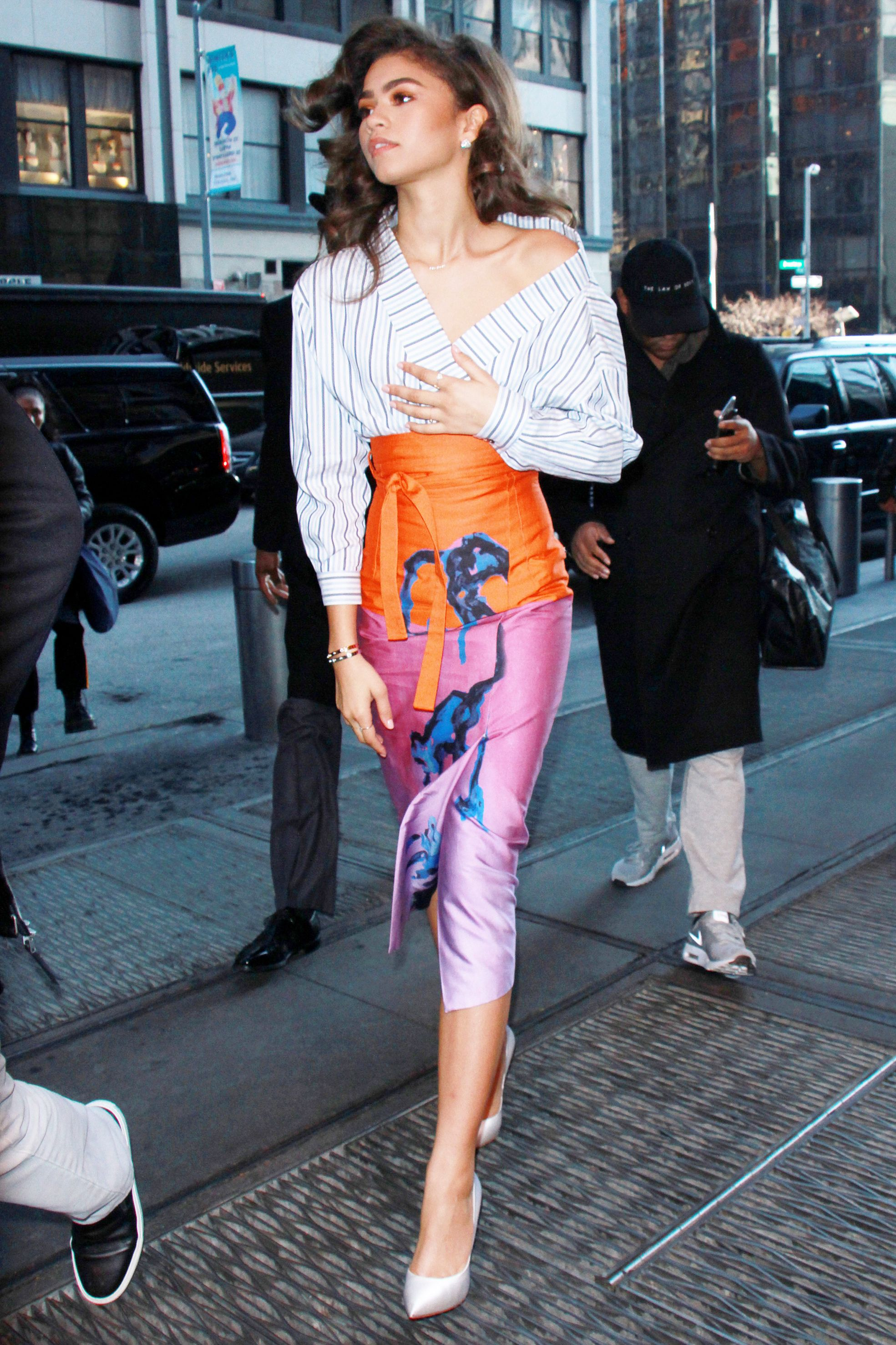 zendaya just nailed five fierce looks in one day  zendaya