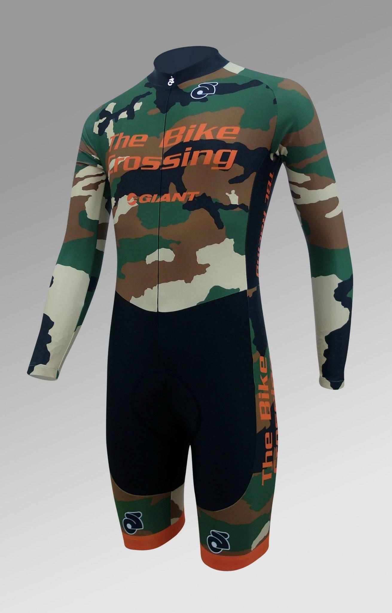 07e0774a1c3 The Bike Crossing Camo Skinsuit Cycling Wear