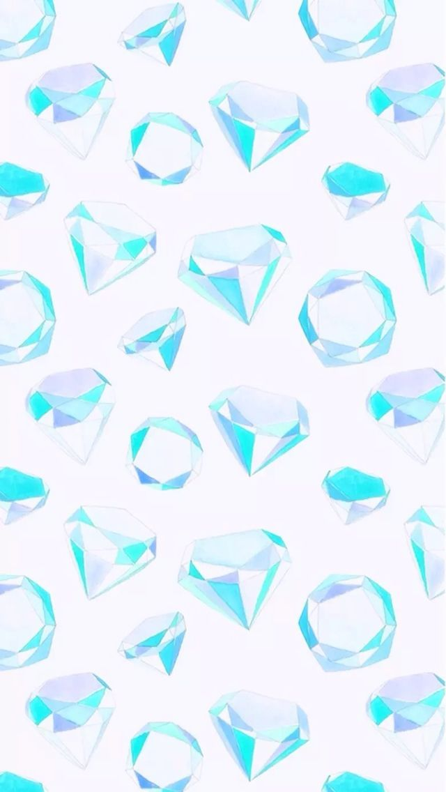 turquoise iphone wallpaper white aqua turquoise watercolour gems jewels diamonds 13151