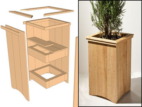 Tall Wood Planter Box Google Search Wood Craft Ideas Planters