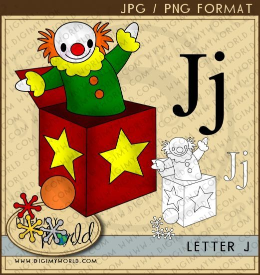 Letter J Jack In The Box Jillions Of J S Letter J