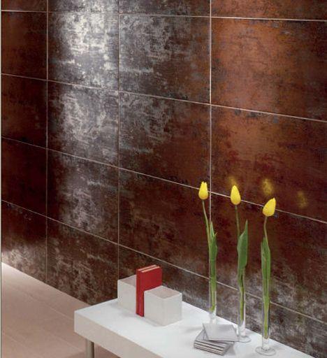 Glazed Porcelain Tiles Titanio By Mallol The Metallic Reflection Tile Metallic Tiles Bathroom Porcelain Tile Metal Tile