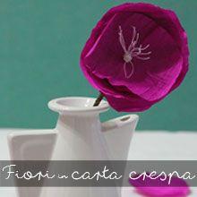 tutorial diy fiori in carta crespa di tintacorda me creative inside